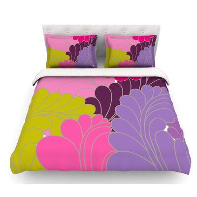 Moroccan Leaves by Nicole Ketchum Featherweight Duvet Cover Size: King