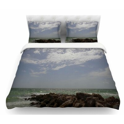 Clouds by Rosie Brown Coastal Featherweight Duvet Cover Size: Twin