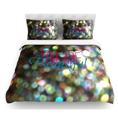 You are Beautiful II by Robin Dickinson Art Object Featherweight Duvet Cover Size: Queen