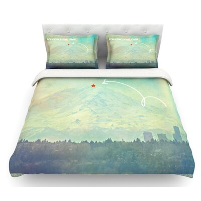 Follow Your Own Arrow by Robin Dickinson City Landscape Featherweight Duvet Cover Size: Twin
