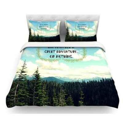 Life is by Robin Dickinson Landscape Featherweight Duvet Cover Size: Twin