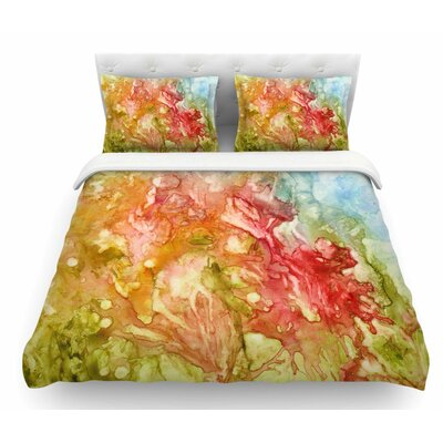 Fantasy Garden by Rosie Brown Featherweight Duvet Cover Size: Twin