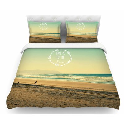 Take Me to the Sea by Robin Dickinson Featherweight Duvet Cover Size: King
