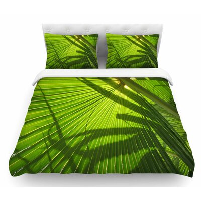 Palm Shadows by Rosie Brown Featherweight Duvet Cover Size: Queen