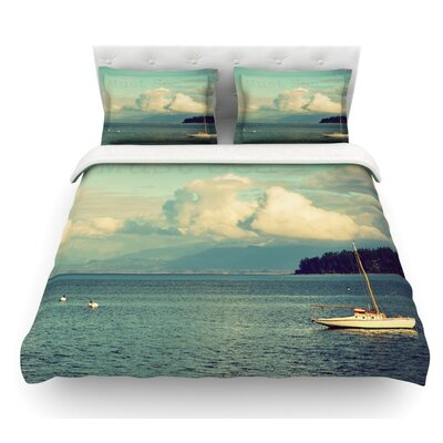Must Sea by Robin Dickinson Ocean Featherweight Duvet Cover Size: King