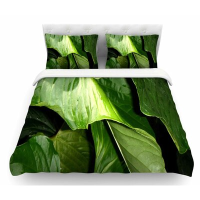 Garden Shadows by Rosie Brown Featherweight Duvet Cover Size: Twin