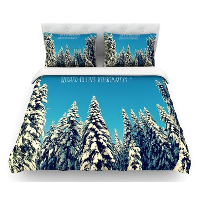 I Went to the Woods by Robin Dickinson Featherweight Duvet Cover Size: Twin