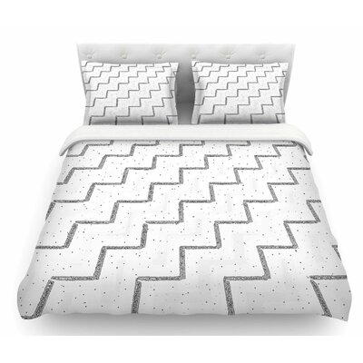 Speckled Zigzag by Richard Casillas Featherweight Duvet Cover Size: King