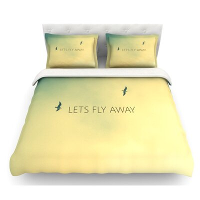 Lets Fly Away by Richard Casillas Featherweight Duvet Cover Size: Queen