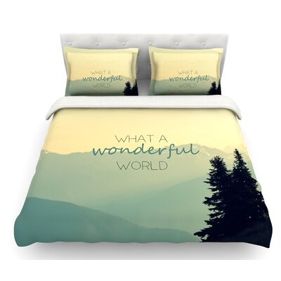 What a Wonderful World by Robin Dickinson Featherweight Duvet Cover Size: King