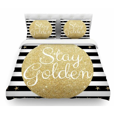 Stay Golden by Richard Casillas Featherweight Duvet Cover Size: King