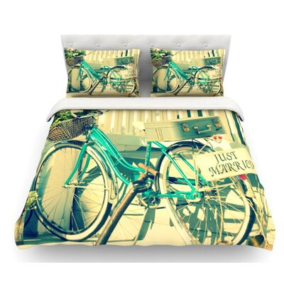 Just Married by Robin Dickinson Featherweight Duvet Cover Size: Twin
