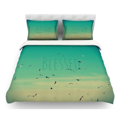 Blessed by Robin Dickinson Birds Featherweight Duvet Cover Size: Queen