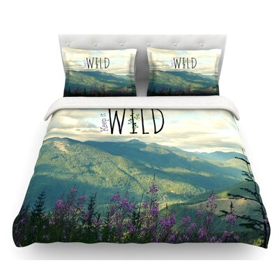 Keep it Wild by Robin Dickinson Featherweight Duvet Cover Size: King