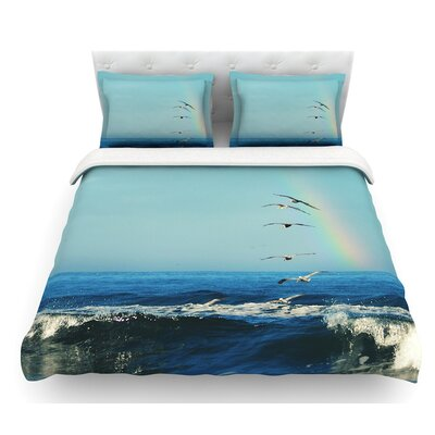 Ill Follow by Robin Dickinson Coastal Featherweight Duvet Cover Size: Queen