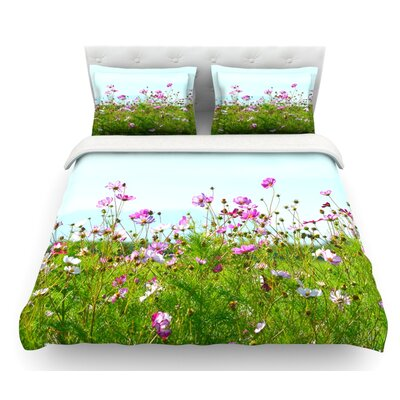 I Choose Magic by Robin Dickinson Flowers Featherweight Duvet Cover Size: Queen