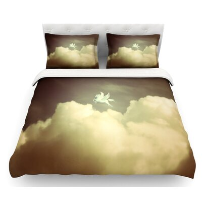 Pegasus by Richard Casillas Featherweight Duvet Cover Size: King