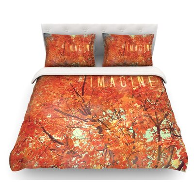 Imagine by Robin Dickinson Leaves Featherweight Duvet Cover Size: Queen