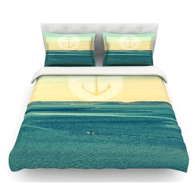 Row Your Own Boat by Robin Dickinson Ocean Featherweight Duvet Cover Size: Queen