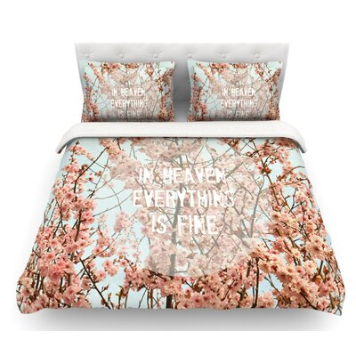 In Heaven by Robin Dickinson Blossom Featherweight Duvet Cover Size: Twin