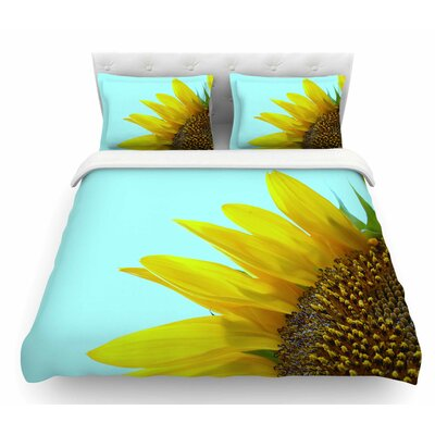 Sunflower by Richard Casillas Featherweight Duvet Cover Size: Twin