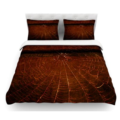 Dark Web by Robin Dickinson Featherweight Duvet Cover Size: Queen