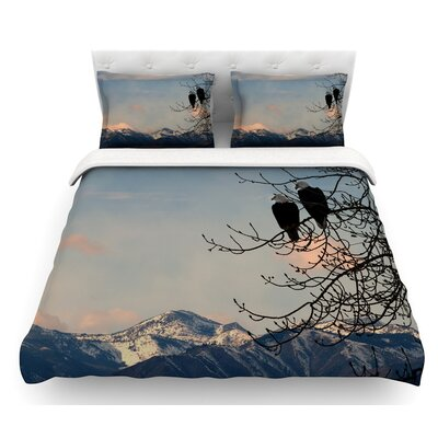 Majesty by Robin Dickinson Nature Landscape Featherweight Duvet Cover Size: Twin
