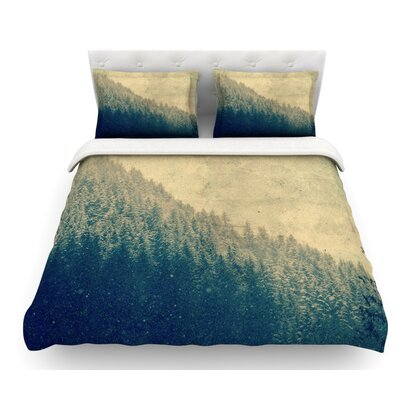 Any Road Will Do by Robin Dickinson Mountain Tree Featherweight Duvet Cover Size: Queen