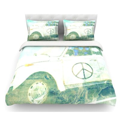 Love Bug by Robin Dickinson Featherweight Duvet Cover Size: Queen