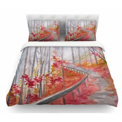 Amicalola Falls by Rosie Brown Featherweight Duvet Cover Size: Queen