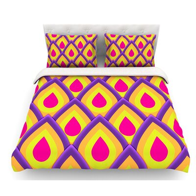 Pineapple by Roberlan Featherweight Duvet Cover Size: Queen