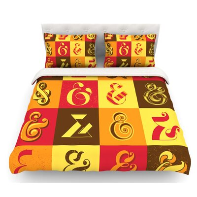 Ampersands by Roberlan Featherweight Duvet Cover Size: Twin