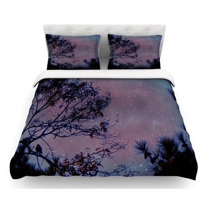 Twilight by Robin Dickinson Tree Featherweight Duvet Cover Size: Queen