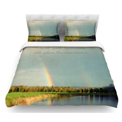 Count Rainbows by Robin Dickinson Nature Featherweight Duvet Cover Size: Queen