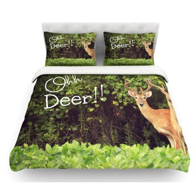Ohh Deer by Robin Dickinson Featherweight Duvet Cover Size: King