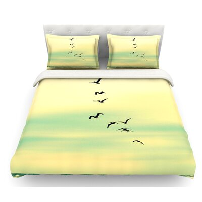 Across the Endless Sea by Robin Dickinson Birds Featherweight Duvet Cover Size: King