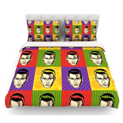 Johnny Depop by Roberlan Pop Art Featherweight Duvet Cover Size: King