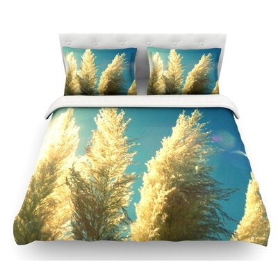 Ornamental Grass by Robin Dickinson Featherweight Duvet Cover Size: Twin