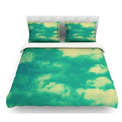 I Love That You Love Me by Robin Dickinson Featherweight Duvet Cover Size: Twin