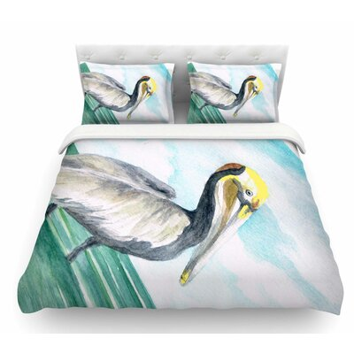Pelican by Rosie Brown Coastal Featherweight Duvet Cover Size: Twin
