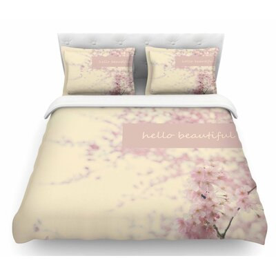 Hello Beautiful by Robin Dickinson Featherweight Duvet Cover Size: Twin