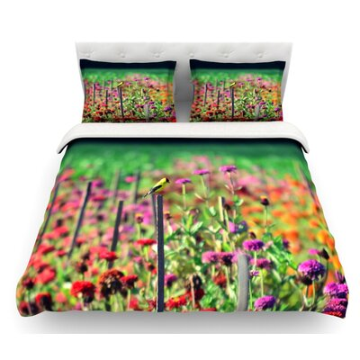 Live in the Sunshine by Robin Dickinson Featherweight Duvet Cover Size: Twin