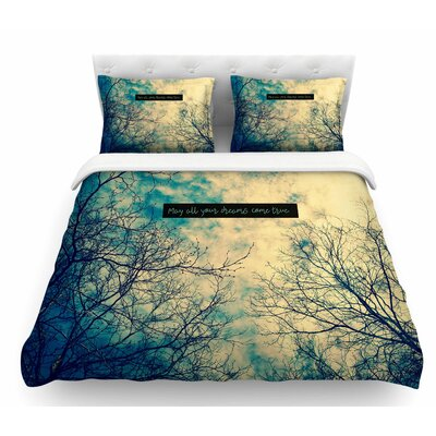 May All Your Dreams Come True by Robin Dickinson Nature Featherweight Duvet Cover Size: Queen