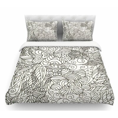 Zentangle Garden by Rosie Brown Zentangle Featherweight Duvet Cover Size: Queen