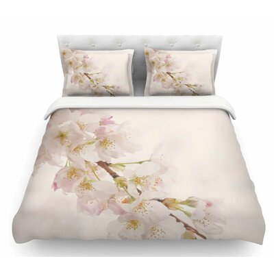Its That Time by Robin Dickinson Floral Featherweight Duvet Cover Size: Twin