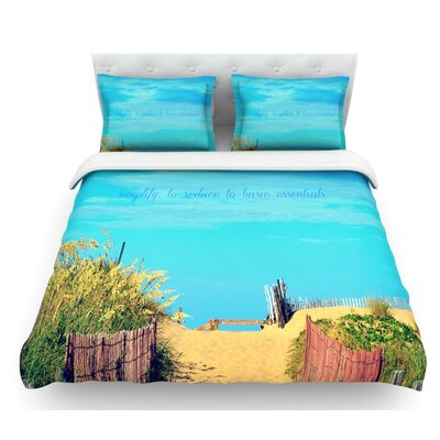 Simplify by Robin Dickinson Beach Sky Featherweight Duvet Cover Size: Queen