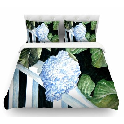 Hydrangea by Rosie Brown Floral Featherweight Duvet Cover Size: Twin