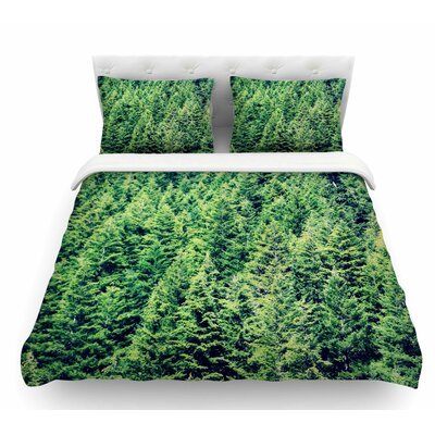 Summertime Woodlands by Robin Dickinson Featherweight Duvet Cover Size: King