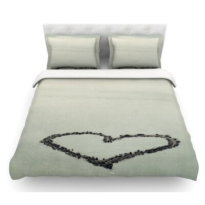 I Love the Beach by Robin Dickinson Ocean Sand Featherweight Duvet Cover Size: Twin