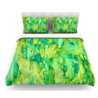 Going by Rosie Brown Emerald Featherweight Duvet Cover Size: Queen